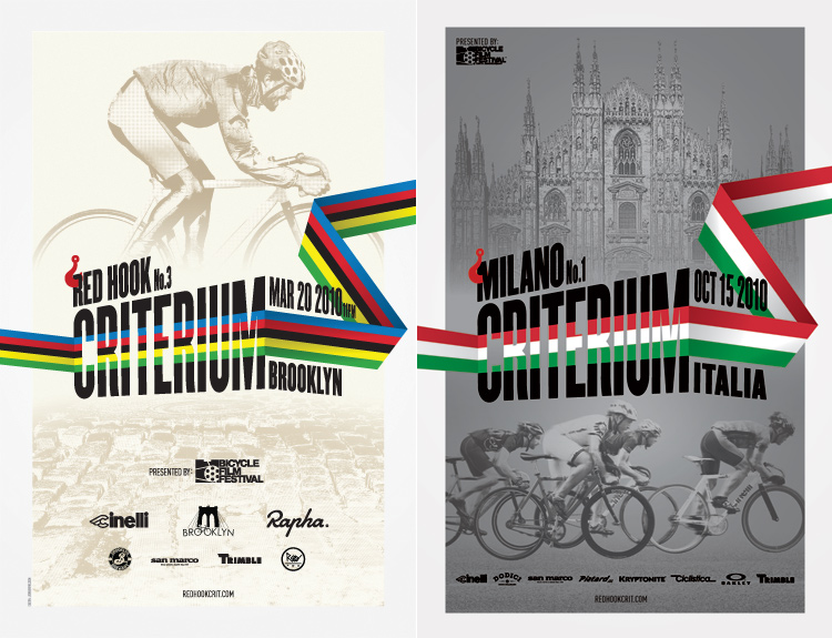 Red Hook Crit - Brooklyn no.3/Milano no.1 posters